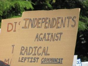Independent tea party sign
