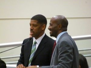 Mayor Kevin Johnson and Van Jones