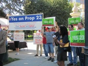 Prop 23 rally
