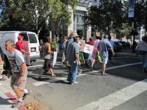 Prop 23 marchers