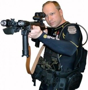 Breivik_in_diving_suit_with_gun_(self_portrait)