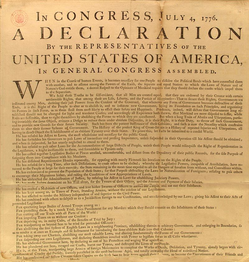 CA Declaration of Independence 2011