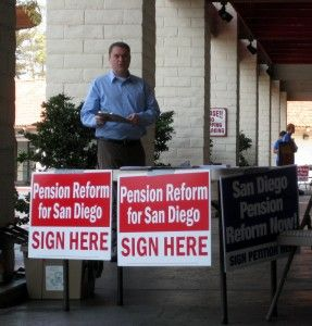 San Diego Pension Reform DeMaio At Table