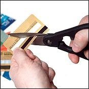 credit cards - cutting up