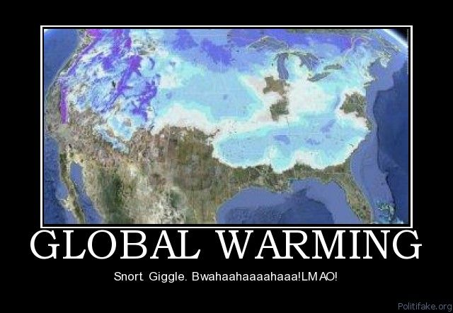 Global Warming Political Poster