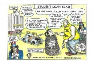 Loan scam cartoon, Bill Williams, Aug. 29, 2012