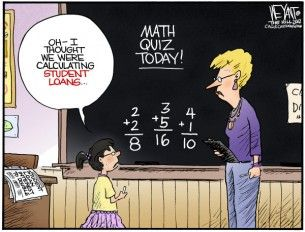math quiz Cagle Cartoon, Oct. 22, 2012