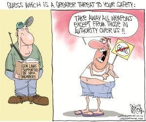 Anti-gun zealots cagle, Dec. 24, 2012