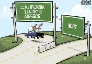 California bankrupt, Obama, Cagle, Jan. 21, 2013