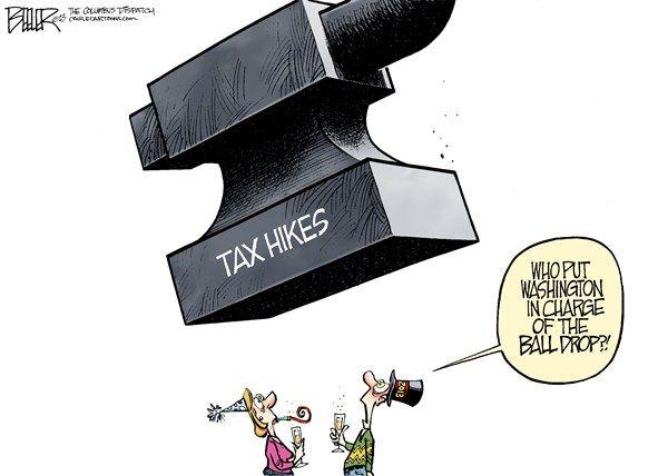 new year's tax increase, cagle, Jan. 2, 2013