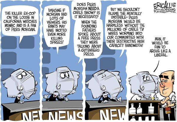 Arguing like a liberal - Cable cartoons, Feb. 16, 2013
