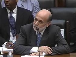 Bernanke testifying, wikipedia
