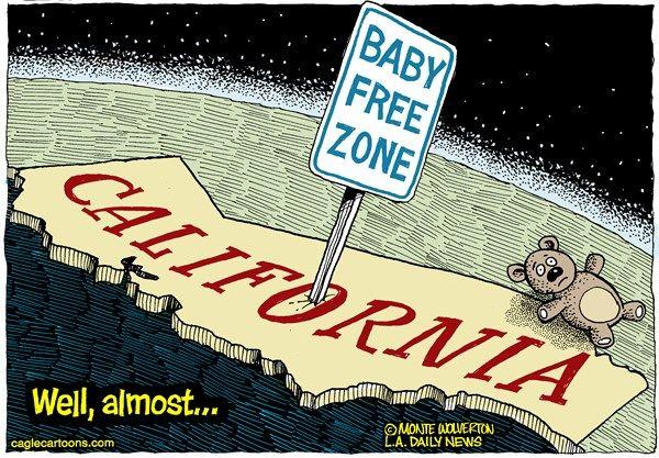 California baby free zone, Cagle, Feb. 4, 2013