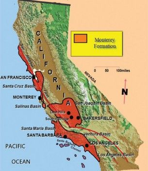 Monterey Shale map fracking