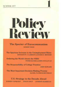 Policy Review No. 1, 1977