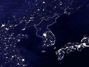 North Korea, South Korea lights