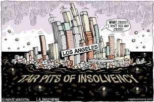 Los Angeles insolvency, Cagle, april 7, 2013