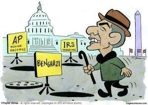 Obama IRS bengazi scandals, Cagle, May 21, 2013