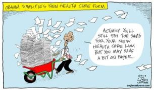 obamacare paperwork, Cagle, May 6, 2013