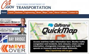 Brown Caltrans Web site