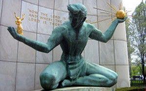 Spirit of Detroit statue, wikimedia