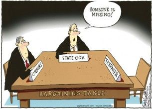 Union negotiating, taxpayers, cagle, Aug. 26, 2013