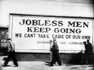 Great depression jobless picture
