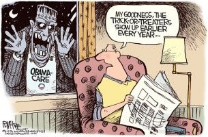 Obamcare, mckee, cagle, Sept. 30, 2013