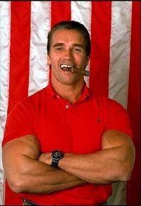 Schwarzenegger smoking