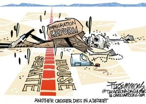 immigration reform, David Fitzimmons,cagle, Oct. 30, 2013