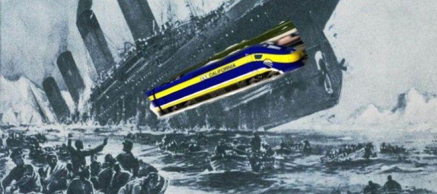 AG Kamala Harris ensures she won't go down with bullet-train Titanic
