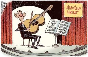 Obamacare amateur hour, mckee, Cagle, Nov. 19, 2013