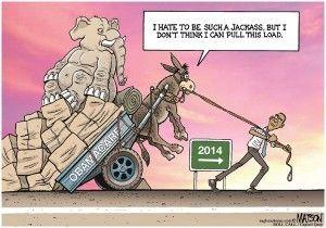 Obamacare, heavy load, Matson, cagle, Nov. 19, 2013
