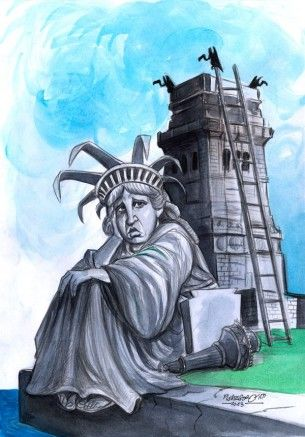 karikatur für cover-arbeitslos
