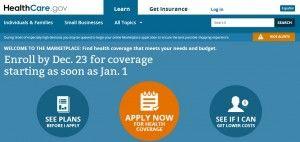 Healthcare.gov capture, Dec. 23, 2013