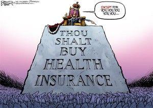 Obamacare exemptions, beeler, cagle, Dec. 26, 2013