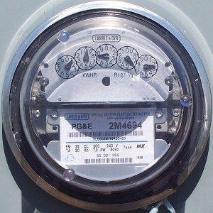 PG&E electric meter, wikimedia