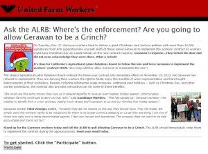 UFW website, capture taken Dec. 30, 2013 at 12.42 pm