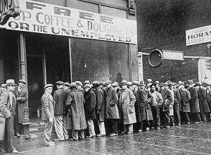 Unemployment line depression