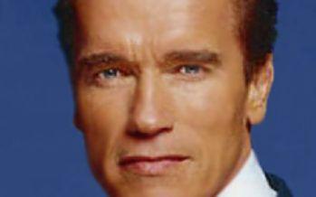 Schwarzenegger sticking to global warming schtick