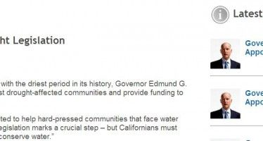 Gov. Brown announces re-election bid under rain