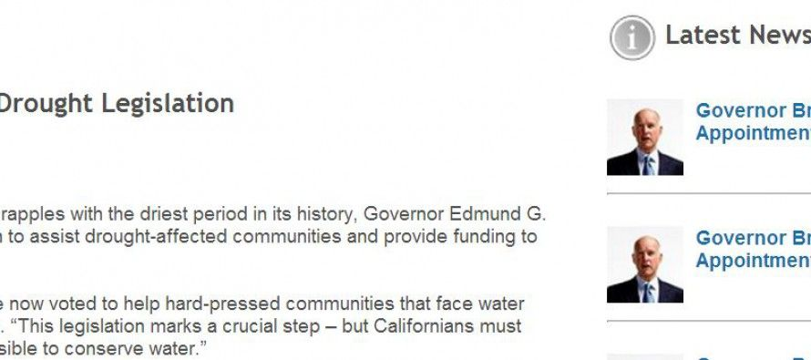 Gov. Brown announces re-election bid under rain