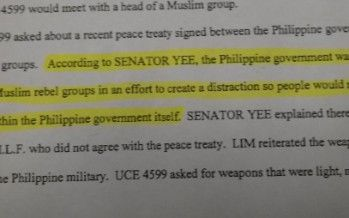 Did Leland Yee spill beans on corruption in Philippines?