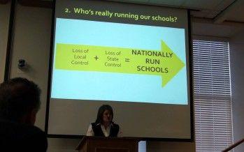 CA Parents opposing national Common Core school standards