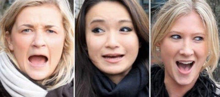 Girls imitating Arnold