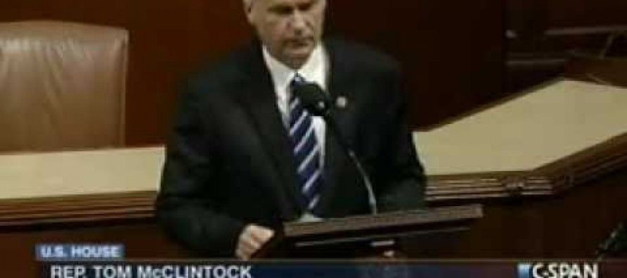 McClintock schools Congress and President on fiscal cliff