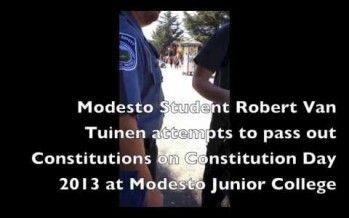 Modesto Junior College bans U.S. Constitution