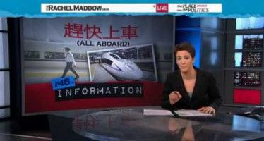 MSNBC-style media on the bandwagon for bullet-train farce