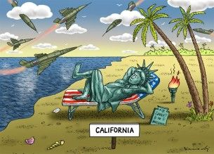 Russian bombers in California, Kamensky, Cagle, May 12, 2014