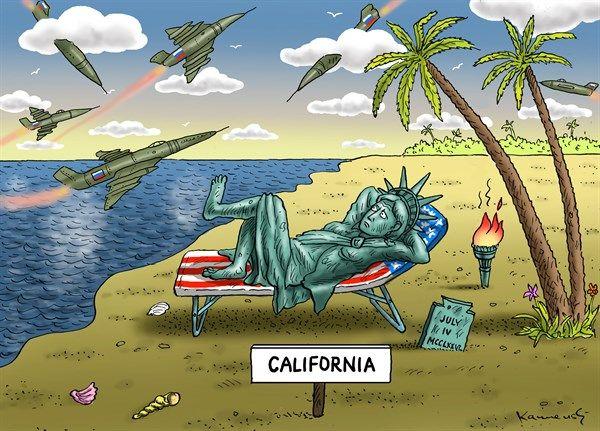 Russian bombers in California, Kamensky, Cagle, May 12, 2014